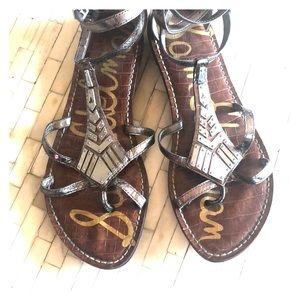 Sam Edelman Silver Metallic Gladiator Sandal